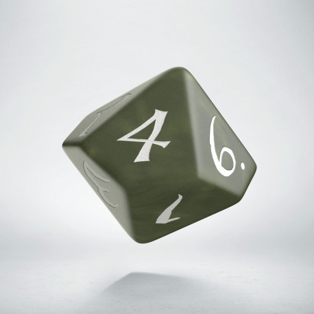 D10 Classic Olive & white Die (1)