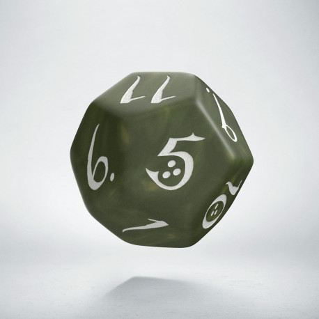 D12 Classic Olive & white Die (1)