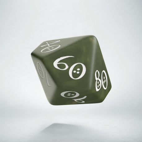 D100 Classic Olive & white Die (1)