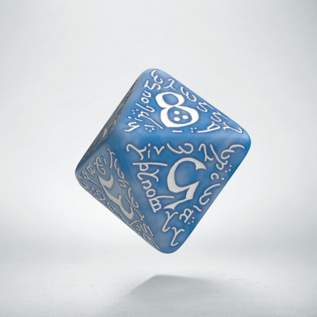 D8 Elvish Glacier & white Die (1)