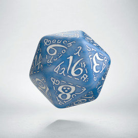 D20 Elvish Glacier & white Die (1)
