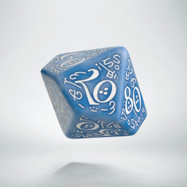 D100 Elvish Glacier & white Die (1)