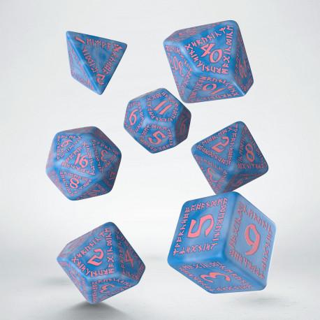 Kości RPG Runiczne Arktyczno-różowe (7)