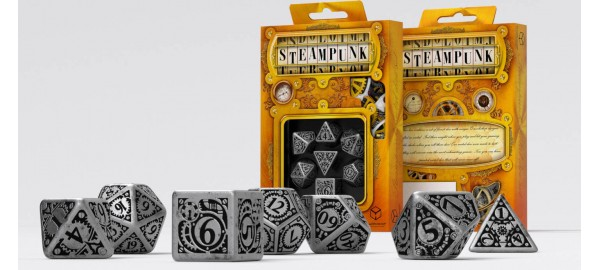 Kości RPG Metalowe Steampunk (7)