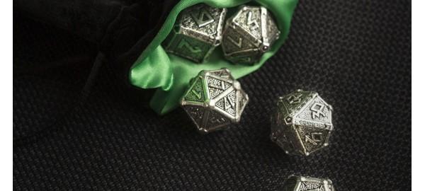 Kości RPG Metalowe Mityczne