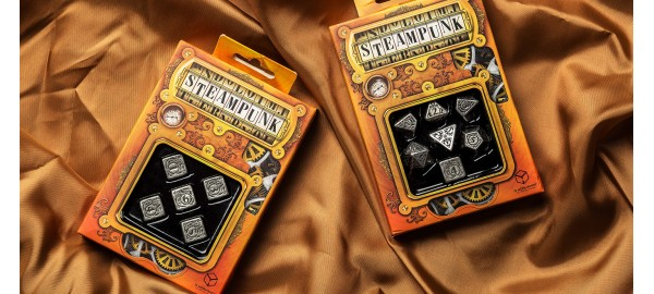 Metal Steampunk 5D6 Dice (5)