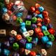 Słoik Okrągły z Kośćmi RPG klasycznymi (80)