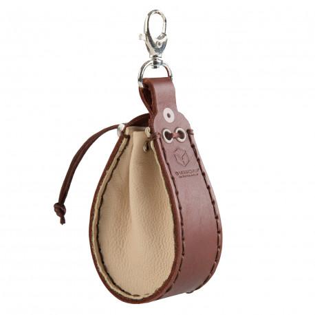 Beige & brown Leather Dice Wallet