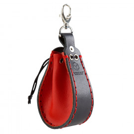 Red & black Leather Dice Wallet