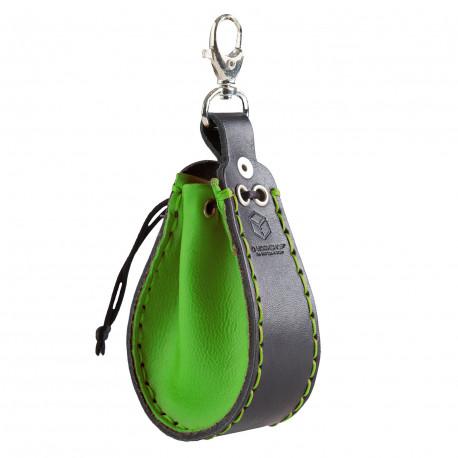Podkówka Zielono-czarna, skórzana
