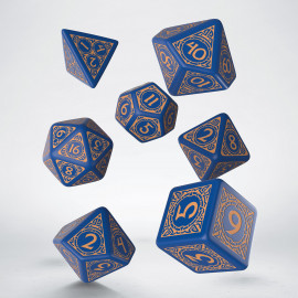 Viking Navy Blue & peach Dice Set [unusual] (7)