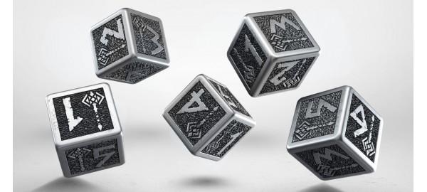 Metal Dwarven 5D6 Dice (5)