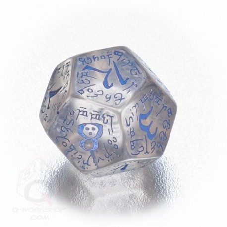 D12 Elvish Translucent & blue Die (1)