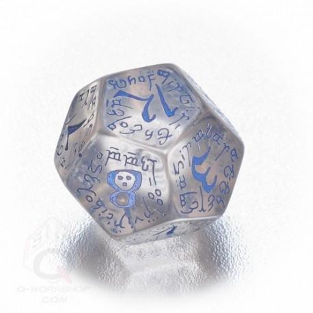 D12 Elvish Translucent & blue Die (1)