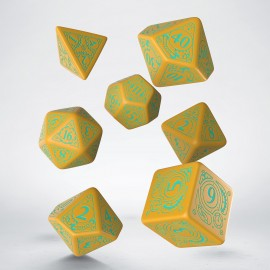 Steampunk Mango & turquoise Dice Set [unusual] (7)