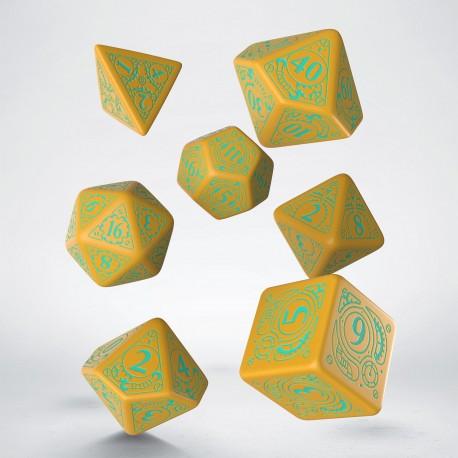 Kości RPG Steampunk Mango-turkus [unusual] (7)