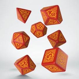 Kości RPG Pogromców Smoków Czerwono-Pomarańczowe