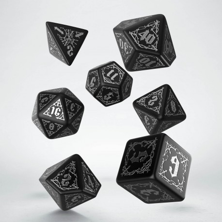 Kości RPG Krwiopijców Czarno-Srebrne