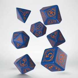 Wizard Dark-blue & orange Dice Set
