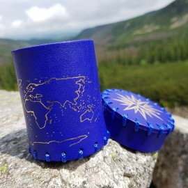 Seafarer's Royal Blue & gold Dice Cup [unusual]