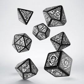 Kości RPG Celtyckie 3D Czarno-białe (7)