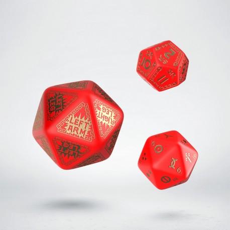 Kości dodatkowe RuneQuest Czerwono-złote (3)