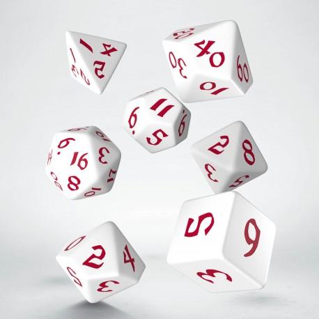 Kości RPG Klasyczno Runiczne Biało-czerwone (7)