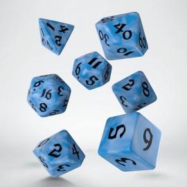 Kości RPG Klasyczno Runiczne Arktyczno-czarne (7)