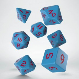 Classic Runic Blue & red Dice Set (7)