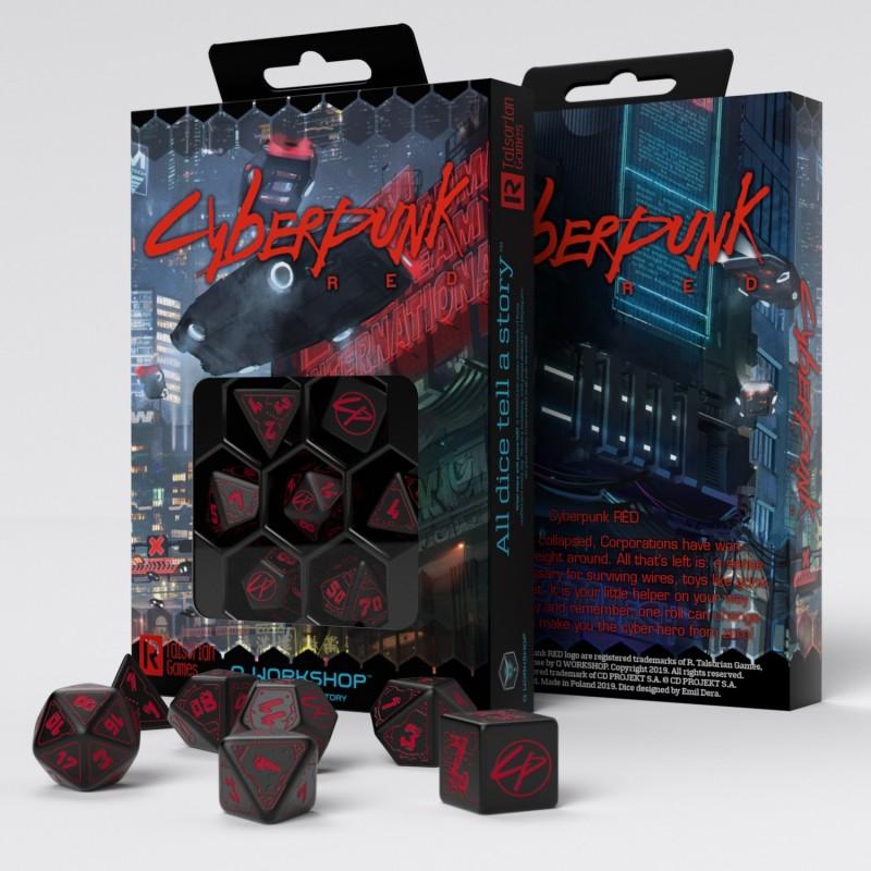 Cyberpunk Red RPG Dice Set -  Q-Workshop
