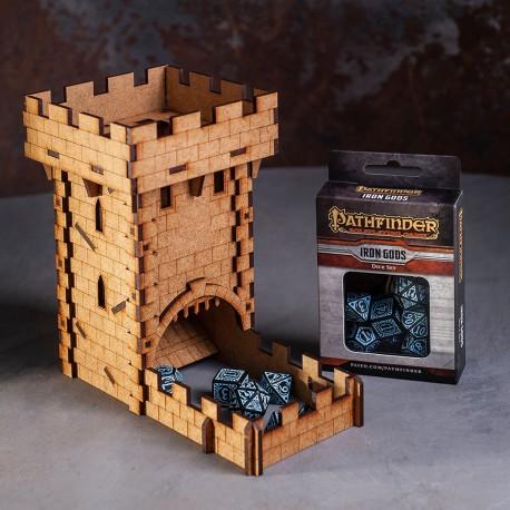 Zestaw kości Pathfinder z wieżą