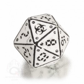 D20 Neuroshima White& black Die (1)