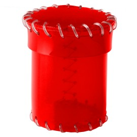Kubek z Ery Plastiku Przyjrzysto-czerwony, PVC