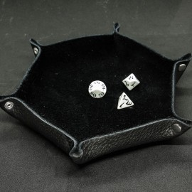 Leather Dice Tray, Black - Unusual UN001