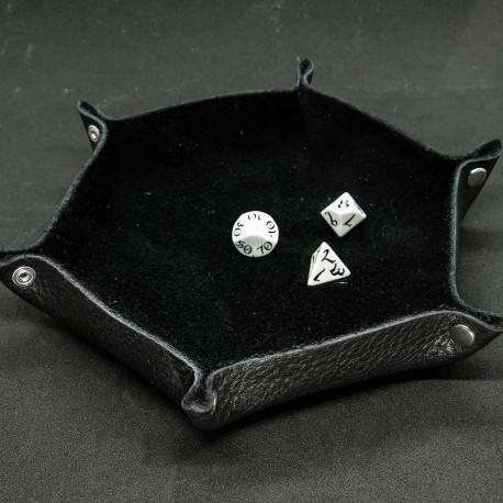 Leather Dice Tray, Black - Unusual UN001