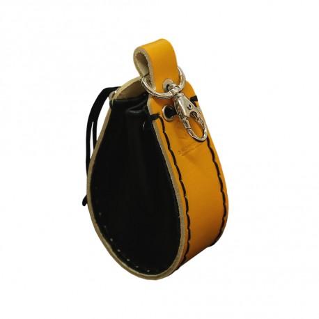 Orange Leather Dice Wallet - Unusual UNW002