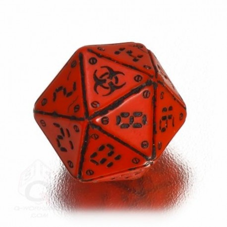 D20 Neuroshima Red & black Die (1)