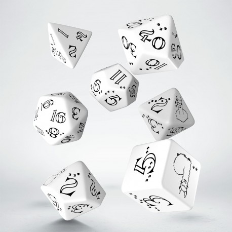 Bright Llama Dice Set (White & black)