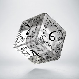 D6 Elvish Translucent & black Die