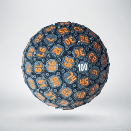 D100 Sphere Graphite & Orange