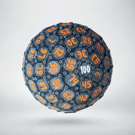 D100 Sphere Graphite & Orange