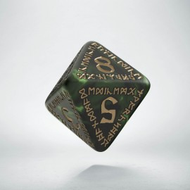 D8 Runic Bottle green & gold Die (1)