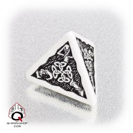 D4 Celtic 3D White & black Die (1)
