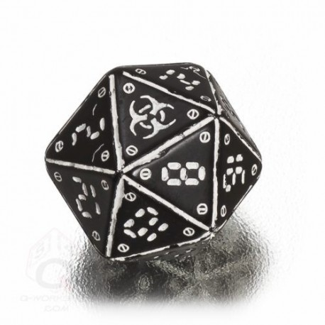 D20 Neuroshima Black & white Die (1)