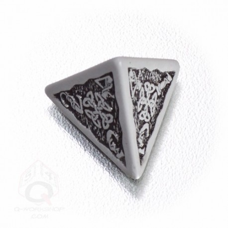 D4 Celtic 3D Gray & black Die (1)