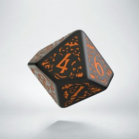 D10 Halloween Pumpkin Black & orange die