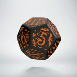 D12 Halloween Pumpkin Black & orange die