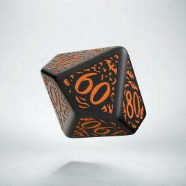 D100 Halloween Pumpkin Black & orange die