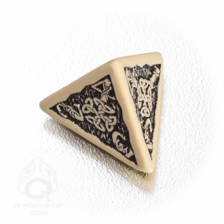 D4 Celtic 3D Beige & black Die (1)