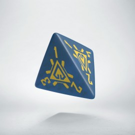 D4 Arcade Blue & yellow die